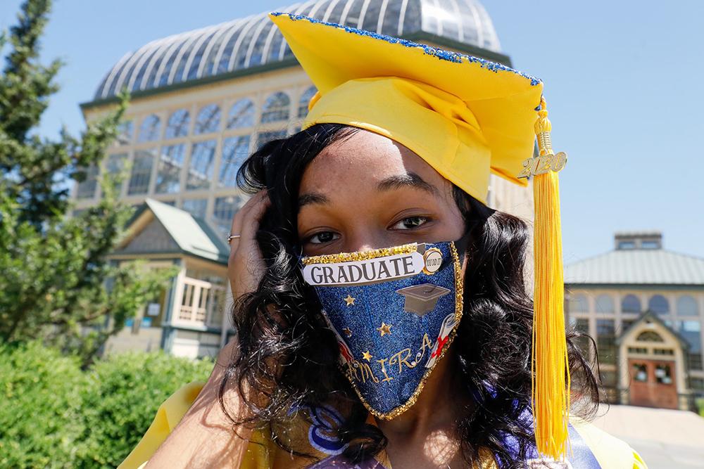 Graduate In Mask